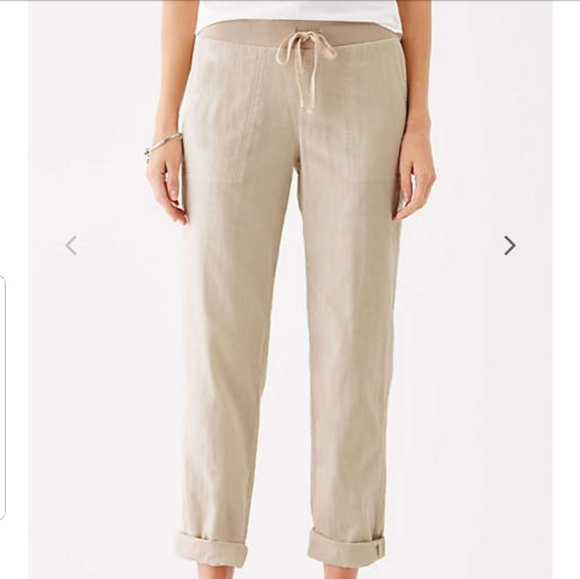 All Sizes New J Jill Sea Salt Live in Chino Ankle Pants